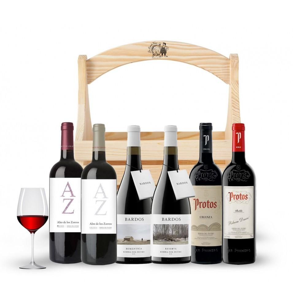 Smagskasse med 6 vine fra Ribera del Duero